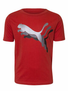 Puma Triple Cat T-Shirt Little Boy's Short Sleeve