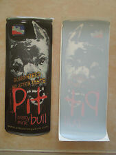 Pit Bull Energy Drink Very Rare Sticker Decal * Never Produced * Red Lettering