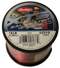 Berkley XTS Saltwater Red BULK Spool Sea Fishing Mono Line All Sizes Available 18lb 825yds