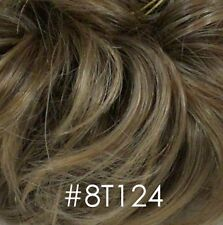 Short Straight Brown Wispy n Spiky Wig w/ long bangs