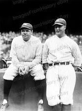 8x10 Print Babe Ruth Lou Gehrig New York Yankees #BR3