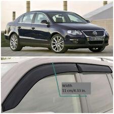 Wide Window Side Visors Rain Guard Vent Deflectors For VW Passat B6 Sd 2005-2010