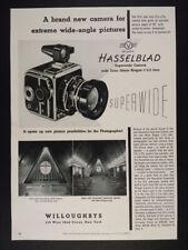 1955 Hasselblad Super Wide Camera vintage print Ad