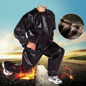 Sweat Sauna Suit Exercise Fitness Jogging Track Suit Slimming Free  Ship
