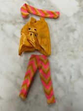 Vintage BARBIE Cape Tights Scarf Yellow Pink Orange pre-1973