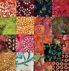 17 ~ 10 Inch Batik Quilt Fabric Squares, Layer Cake, #2
