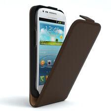 Tasche für Samsung Galaxy S3 Mini Flip Case Schutz hülle Handy Cover braun