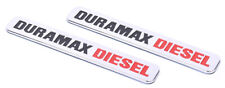 2x Duramax Diesel Truck Emblem for SILVERADO 2500 3500 HD GMC Sierra Chrome