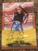 2020 TOPPS NXT BIANCA BELAIR AUTH ON CARD AUTOGRAPH NXT SN 53/99 ORANGE SEXY HOT
