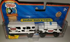 Thomas & Friends Wooden Railway Train Tank Engine Sodor Dairy Cows Milk Cars NEW