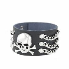punk skeleton leather bracelet By Controse