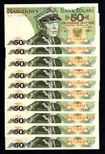 POLOGNE - POLAND -  LOT 10 ex - 50 zlotys - 1988 - UNC