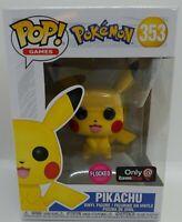 FUNKO POP POKEMON Flocked PIKACHU #503 GameStop Exclusive