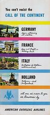 American Overseas Airlines Europe Brochure  1940s =