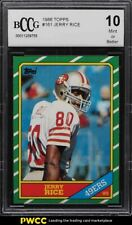 1986 Topps Football Jerry Rice ROOKIE RC BCCG 10
