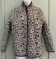 Alfred Dunner Size 14 Reversible Quilted Jacket Multi-Animal Print or Leopard