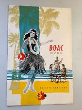 More details for rare 1960s  original b.o.a.c vintage  menu card -  pacific  services