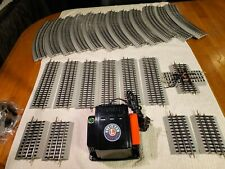 Lionel,0/027 Lot Of Fastrack Track Sections, W/6-14198 CW 80 Transformer, Exc
