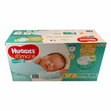 224 Huggies NEWBORN Baby Boy Girl Disposable Nappy Ultimate Nappies