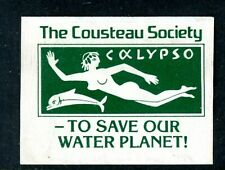 "US Cinderella Stamp - Cousteau Society - ""TO SAVE OUR WATER PLANET"" -  MH-NG"