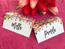 Wedding Name Placecards Personalised Name Custom Escort Cards Floral Guest Name