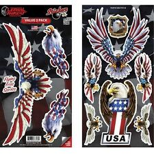 Planche de 10 Stickers Aigle ailes drapeau US moto biker custom tuning
