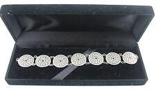 Chinese 925 Argento Bracciale 16cm Long