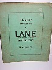 Lane Saw Shingle Mills Woodworking Machinery Catalog Manual Montpelier