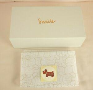 Radley Smile Rigid White Magnetic Closure Storage Gift Box Small New