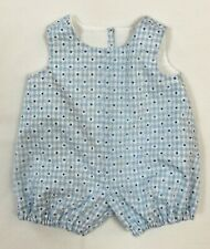 """Blue Check Romper to fit Deluxe Reading Baby Boo or similar size 20"""" Doll"""