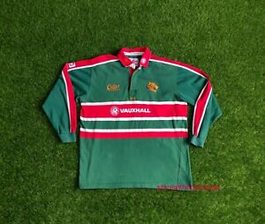 Leicester Tigers 2001 2003 HOME RUGBY SHIRT JERSEY MEN COTTON TRADERS CLASSICS L