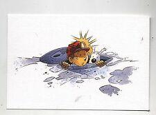 Carte Postale Tintin par Pascal SOMON. Tintin égoutier. Tirage limité