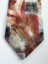 Broadway Men's Tie Rust/Multi-color Duck/Ducks Pattern
