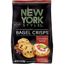 New York Style Cinnamon Raisin Bagel Crisps 7.2oz (Pack Of 12)