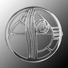 "Charles Rennie Mackintosh Sterling Silver Brooch ""Studio Roundel"""