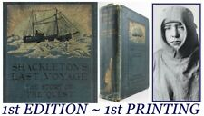 1923*SHACKLETON'S LAST VOYAGE*THE STORY OF THE QUEST*POLAR EXPLORATION*ANTARCTIC