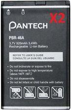 2 NEW OEM PANTECH PBR-46A BATTERY FOR BREEZE II P2000, BREEZE III P2030, C740