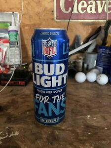 """BUD LIGHT NFL KICK-OFF 2021 BEER CAN  """"FOR THE FANS"""" 24oz."""