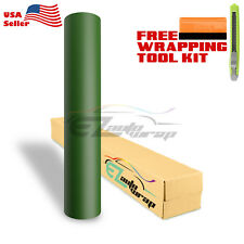 "*12""x60"" Matte Flat Army Green Car Vinyl Wrap Sticker Decal Air Bubble Free"