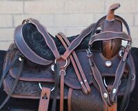 Used Western Saddles Horse Endurance Trail Antique Leather Tack 15 16 17 in