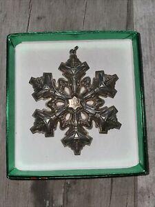 Gorham Sterling Silver 1985 Annual Snowflake Ornament, no box