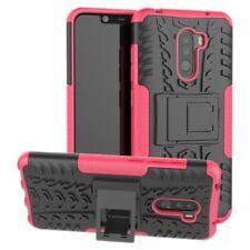 Für Xiaomi POCO Pocofone F1 Hybrid Case 2teilig Outdoor Pink Tasche Hülle Cover