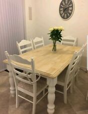 Beautiful Shabby Chic Dining Table And Chairs Farmhouse DELIVERY AVAILABLE