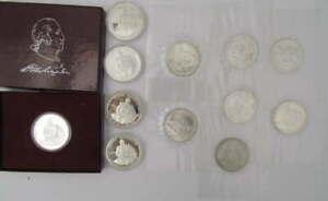 11 SILVER GEORGE WASHINGTON 250TH ANNIVERSARY OF BIRTH 1982 S HALF DOLLAR COINS