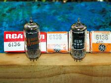 RCA GE 6136 6AU6 6AU6WA EF94 black grey pentode strong NIB sleeve five tubes