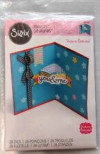 28pc Dies 560145 Sizzix Framelits Pop up Card Banners 3d Drop-ins Birthday Words