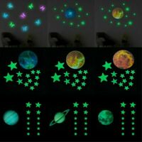 3D Planet Moon Star Luminous Wall Sticker Removable Glow In The Dark Stickers