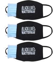 Black Lives Matter Face Mask - 3pcs w/ Filter Insert pocket Reusable & Washable