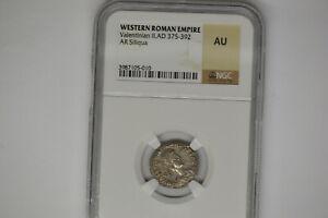 Western Roman Empire- Valentinian II (AD 375-392). AR siliqua.  NGC AU