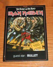 Iron Maiden The Beast on the Road Original Promo Postcard 4x6